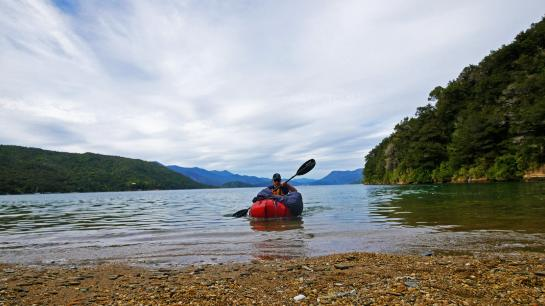 Hank heads off on a packraft into New Zealand's Marlborough Sounds.