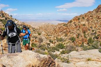 Brian and Hank hike through Joshua Tree's Wonderland of Rocks.