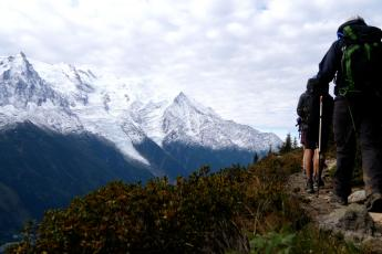 Tour du Mont Blanc hikers
