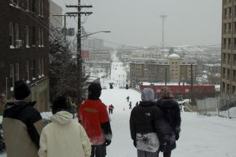 Denny Way sledding 2